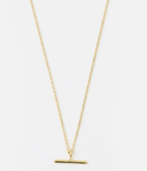 Orelia  T-Bar Ditsy Necklace gold plated (ore25056)