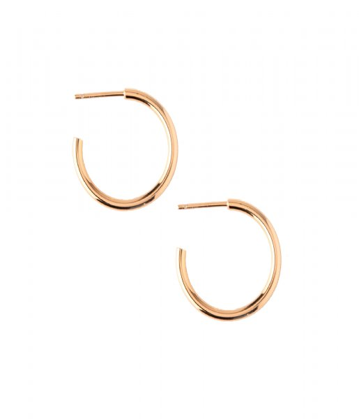Orelia  Chunky Mid Size Hoops pale gold plated (ORE24000)
