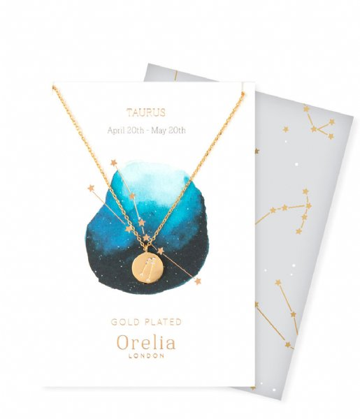 Orelia  Ketting Sterrenbeeld Stier pale gold (ORE23154)