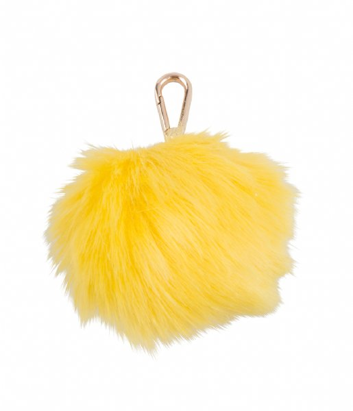 Pauls Boutique  Large Fur Pom Trinkets Gold yellow
