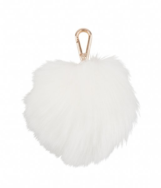 Pauls Boutique  Large Fur Pom Trinkets Gold off white