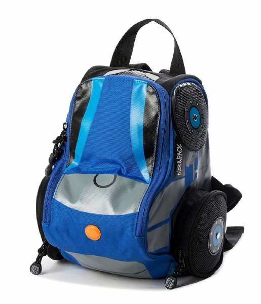 Pick & Pack  Backpack Tractor Shape blue (03)