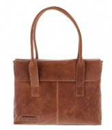 Plevier Ladies Laptop Bag 473 15.6 Inch cognac