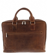 Plevier Laptop Bag 482 15.6 inch cognac