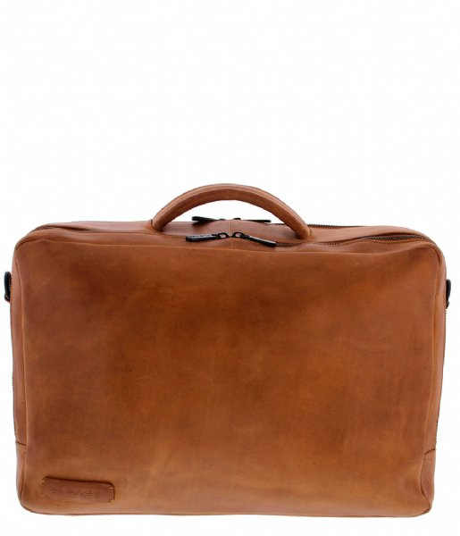 Plevier  Laptop Bag 708 15.6 Inch cognac