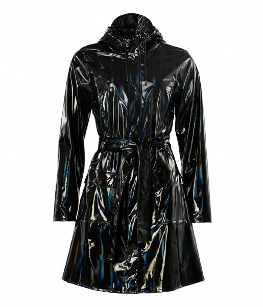 Rains  Holographic Curve Jacket holographic black (25)