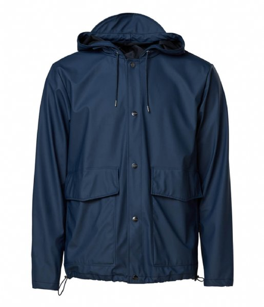 Rains  Short Hooded Coat Blue (02)