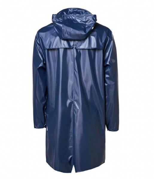 Rains  Long Jacket Shiny Blue (07)
