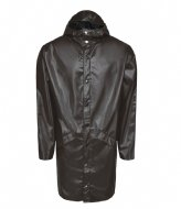 Rains Long Jacket Shiny Brown