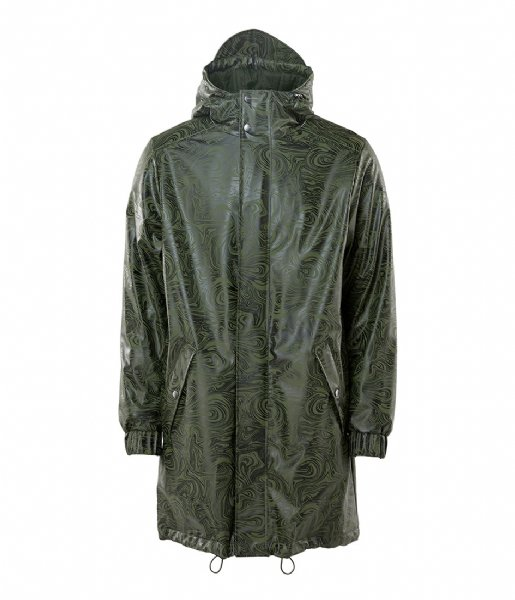 Rains  Long Quilted Parka oil camo (41)
