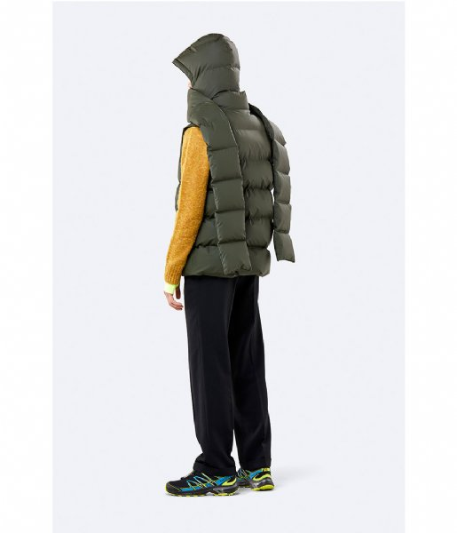 Rains  Puffer Hooded Scarf green (03)