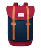 Sandqvist Backpack Stig 13 Inch multi blue burgundy (1020)