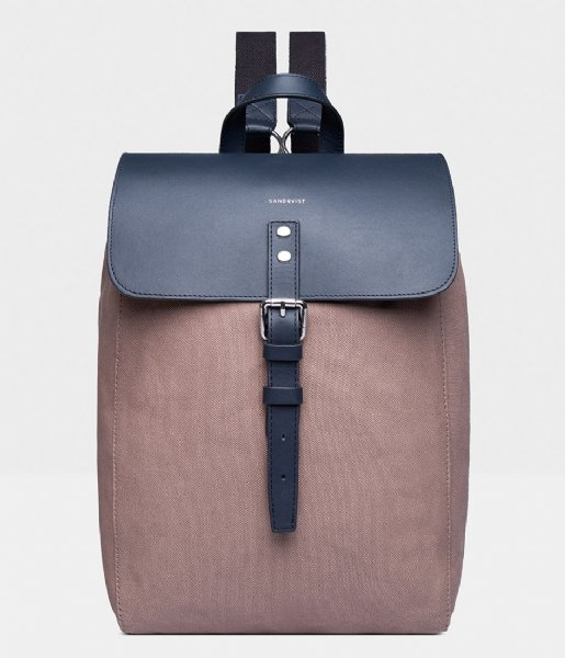 Sandqvist  Alva 13 Inch earth brown with navy leather (1221)