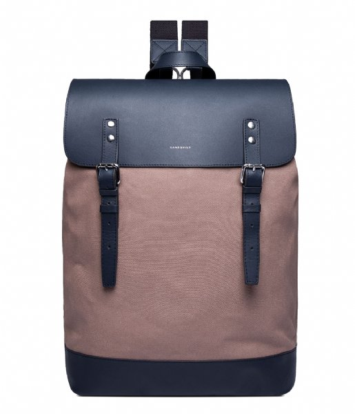 Sandqvist  Hege 15 Inch earth brown with navy leather (1227)