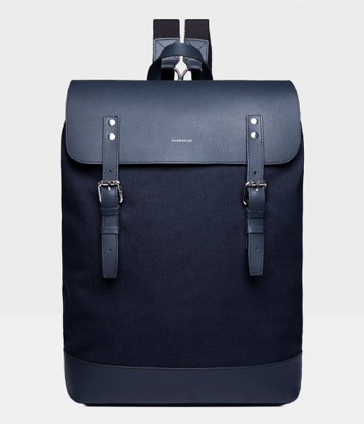 Sandqvist  Hege 15 Inch navy with navy leather (1228)