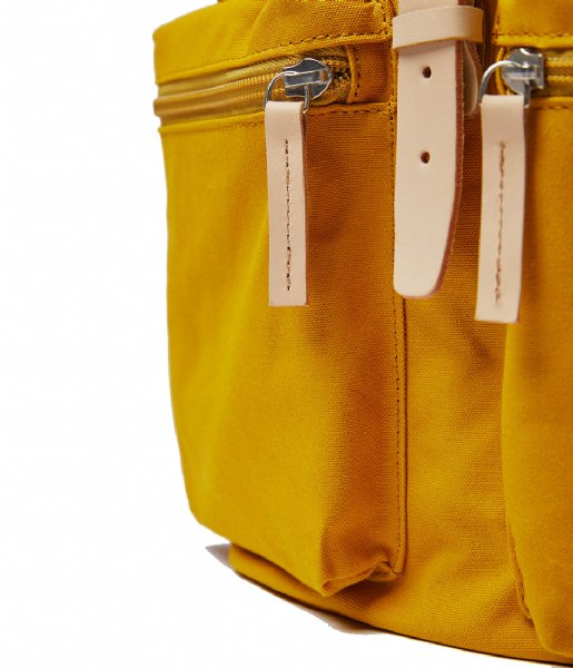 Sandqvist  Roald 15 Inch yellow with natural leather (1254)
