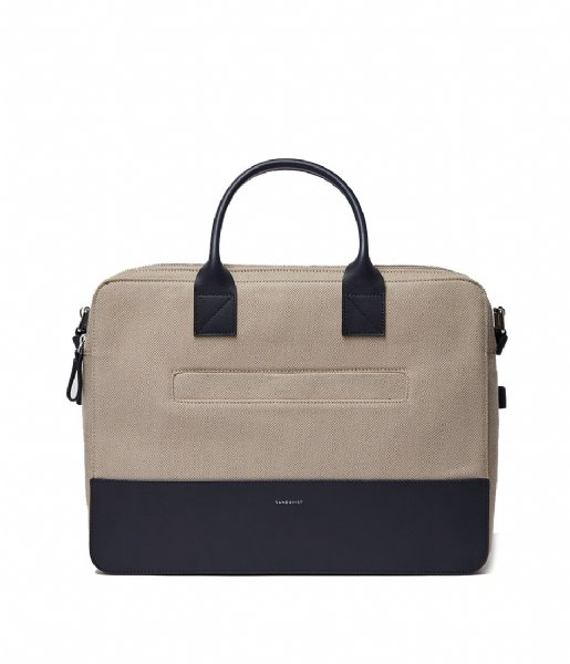 Sandqvist  Seth 15 Inch beige twill with navy leather (1324)