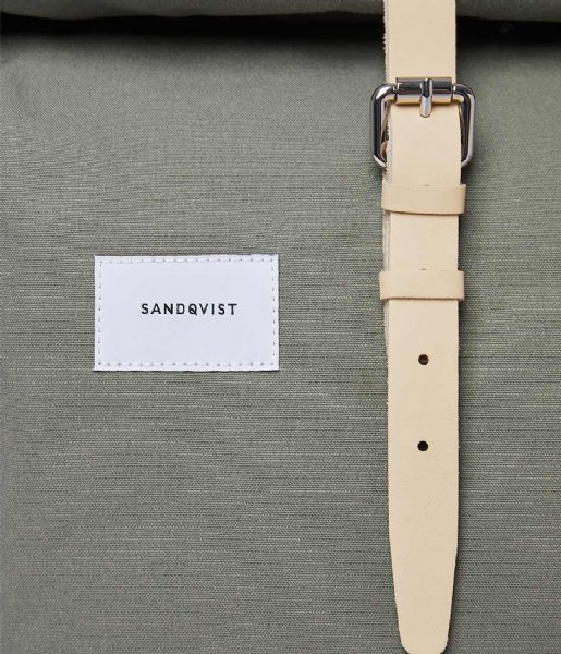 Sandqvist  Dante 15 Inch Dusty green with natural leather (SQA1577) Q3-20