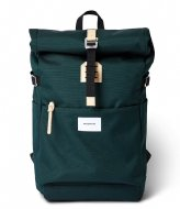Sandqvist Ilon 13 Inch Dark Green with Natural Leather (SQA1563) Q3-20