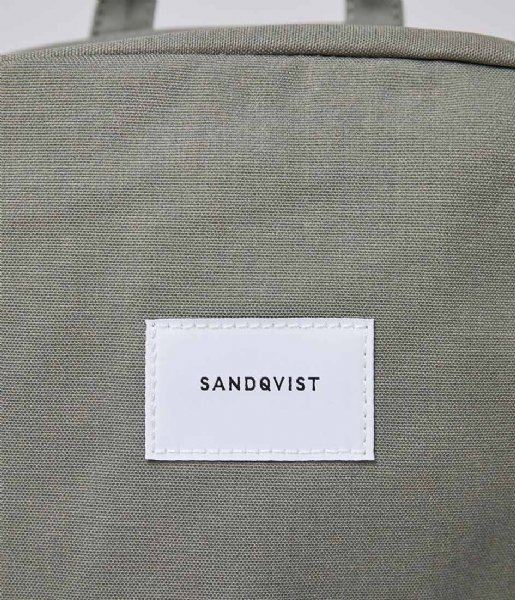 Sandqvist  Kim 15 Inch Dusty green with natural leather (SQA1664) Q3-20