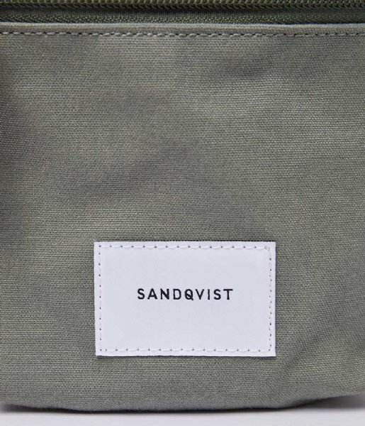 Sandqvist  Sixten Dusty green with natural leather (SQA1587) Q3-20