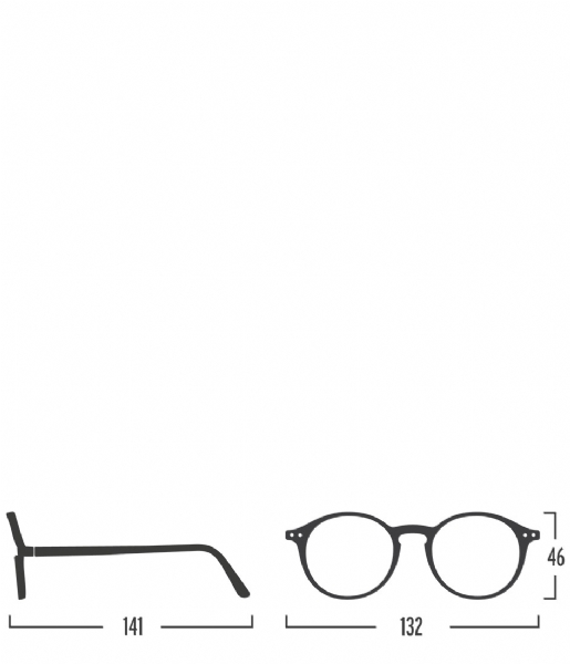 Izipizi  #D Reading Glasses black soft