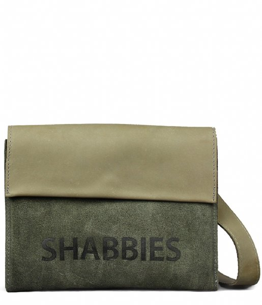 Shabbies  Crossbody Small Waxed Suede Polished waxed suede green