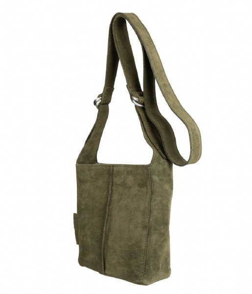 Shoulderbag Small Suede dark green Shabbies | The Little