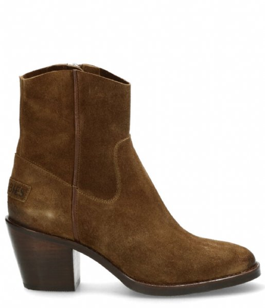 Shabbies  Ankle Boot 7 Cm With Zipper Nubuck warm brown