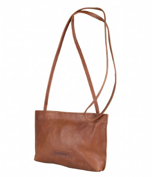Shabbies  Cross Body S Vegetable Tanned Leather Cognac