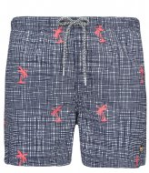 Shiwi Swim Short Modern Check Palm fluo red