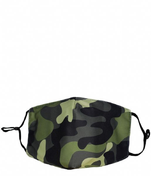 The Little Green Bag Mondkapje Fashion Mask Large Camo camo