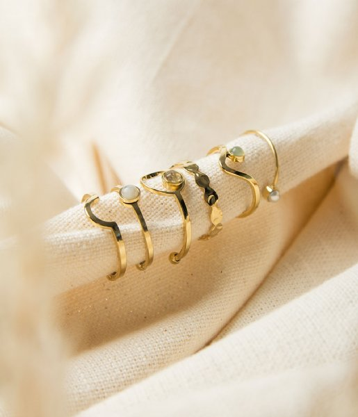 The Little Green Bag  Eclipse Ring X My Jewellery gold colored