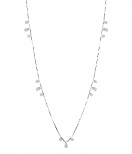 The Little Green Bag  Flat Coin Necklace X My Jewellery silver colored