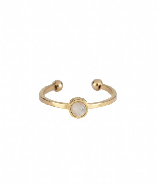 The Little Green Bag  Moon Ring X My Jewellery gold