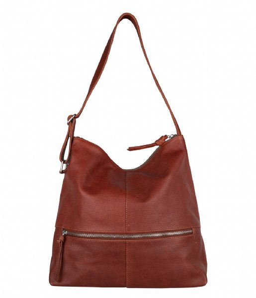 The Little Green Bag Handbag Fennel Hobo Cognac (300)