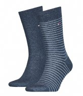 Tommy Hilfiger Men Small Stripe Sock 2P Jeans (356)