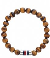 Tommy Hilfiger Beaded Bracelet W/Iconic Closure Bruin (TJ2790067)