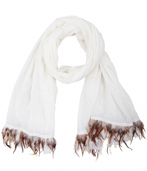 Unmade Copenhagen  Pleated Feather Scarf white