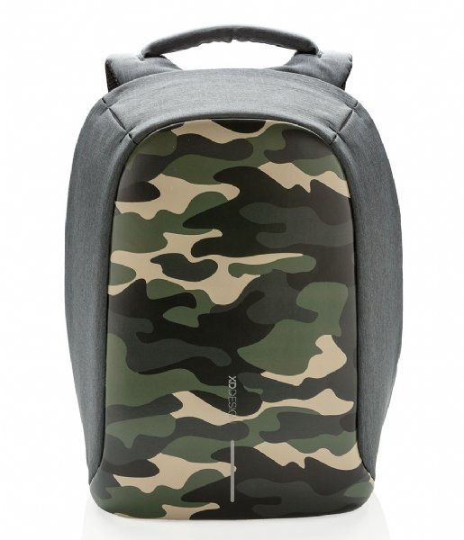 XD Design Anti-theft backpack Bobby Compact Anti Theft Backpack 14 Inch camouflage green (657)
