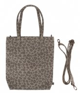 Zusss Basic Shopper leopard zand