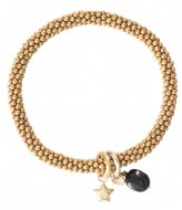 A Beautiful Story Jacky Black Onyx Star Gold Plated Bracelet gold plated (BL22456)