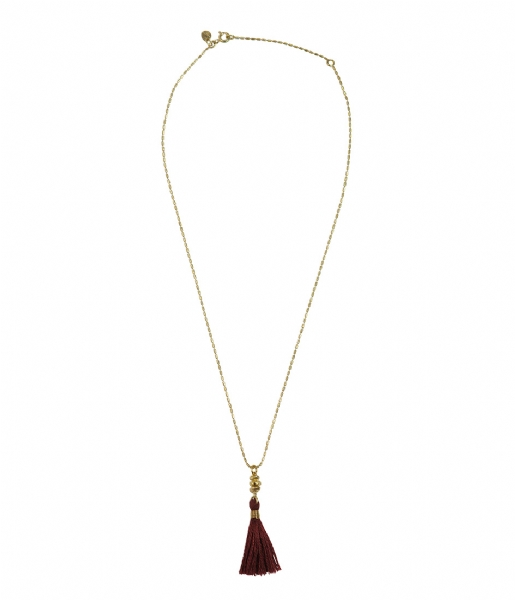 A Beautiful Story  Miracle Gold Colored Necklace red gold plated (21659)