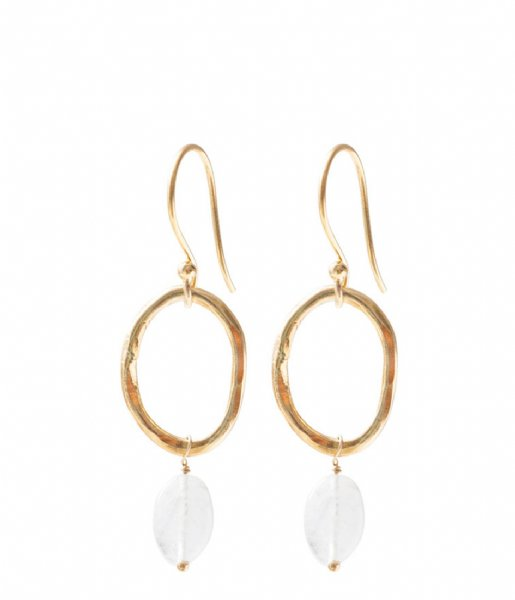 A Beautiful Story  Graceful Moonstone Gold Plated Earrings gold plated (AW24234)