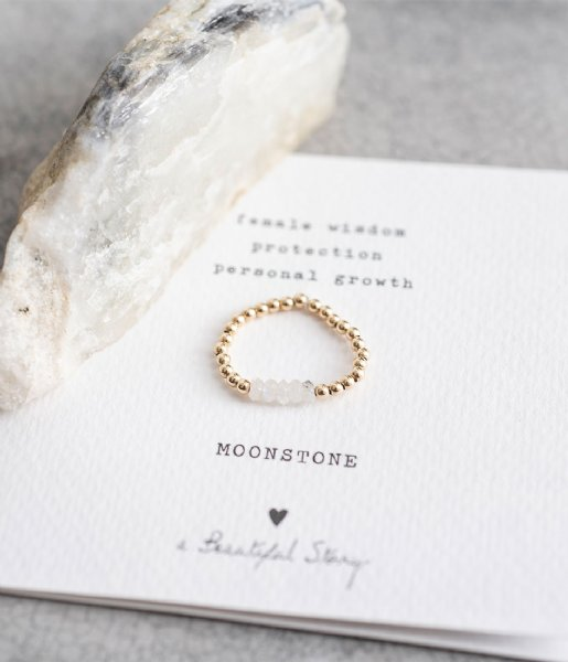A Beautiful Story  Beauty Moonstone Gold Filled Ring M/L gold filled (BL24236)