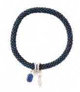 A Beautiful Story Jacky Multi Color Lapis Lazuli Bracelet silver plated (BL24815)
