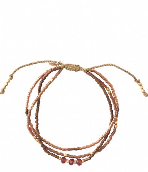 A Beautiful Story  Gentle Garnet Gold Plated Bracelet gold plated (BL25028)