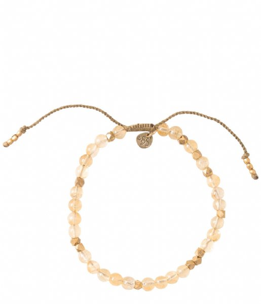 A Beautiful Story  Majestic Citrine Gold Plated Bracelet gold plated (BL25132)