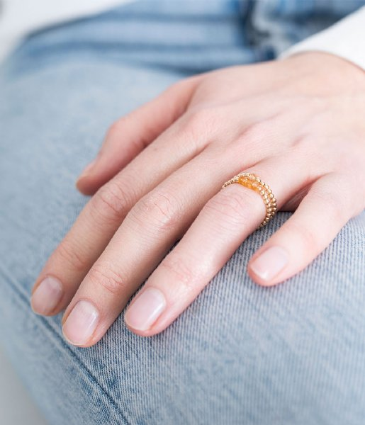 A Beautiful Story  Beauty Citrine Gold Filled Ring M/L gold filled (BL25136)