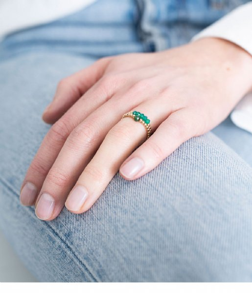 A Beautiful Story  Beauty Aventurine Gold Filled Ring M/L gold filled (BL25336)